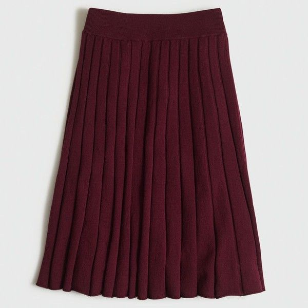 0639408219 J.Crew Factory pleated merino skirt ($60) ❤ liked on Polyvore featuring  skirts, purple midi skirt, merino wool skirt, calf length skirts, purple  skirt and ...