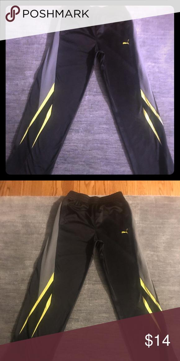 9b5170266a9b Boys Puma black track pants Boys Puma black track pants Puma Bottoms  Sweatpants   Joggers