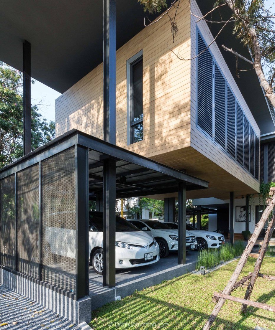 K Oum + K Pol House l greendwell, Tropical Modern House, Bangkok ...