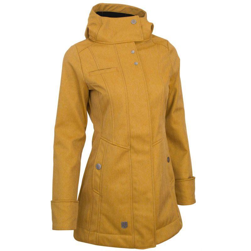 Kabát softshellový dámský WOOX Zone Ladies´ Parka Mustard 34  59bb225772c