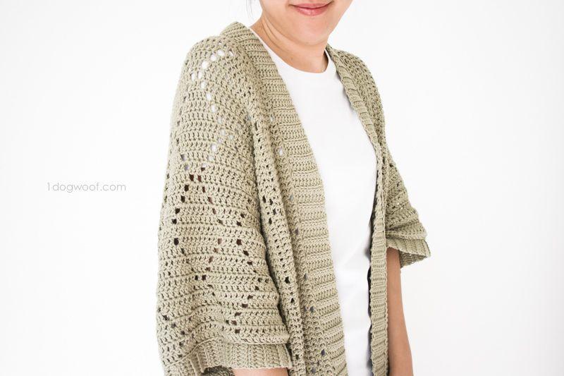 Summer Diamonds Kimono Cardigan Free Crochet Crochet And Patterns