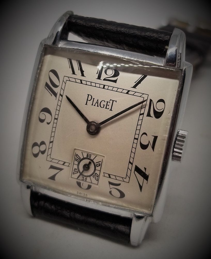 6cbc1cd13d1 PIAGET TANK VINTAGE HAND WINDING VINTAGE SWISS WATCH FANCY CASE SILVER DIAL   Piaget  Fashion