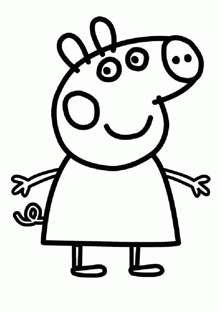 Pig Coloring Pages For Kids 5449 Pics To Color Lustige