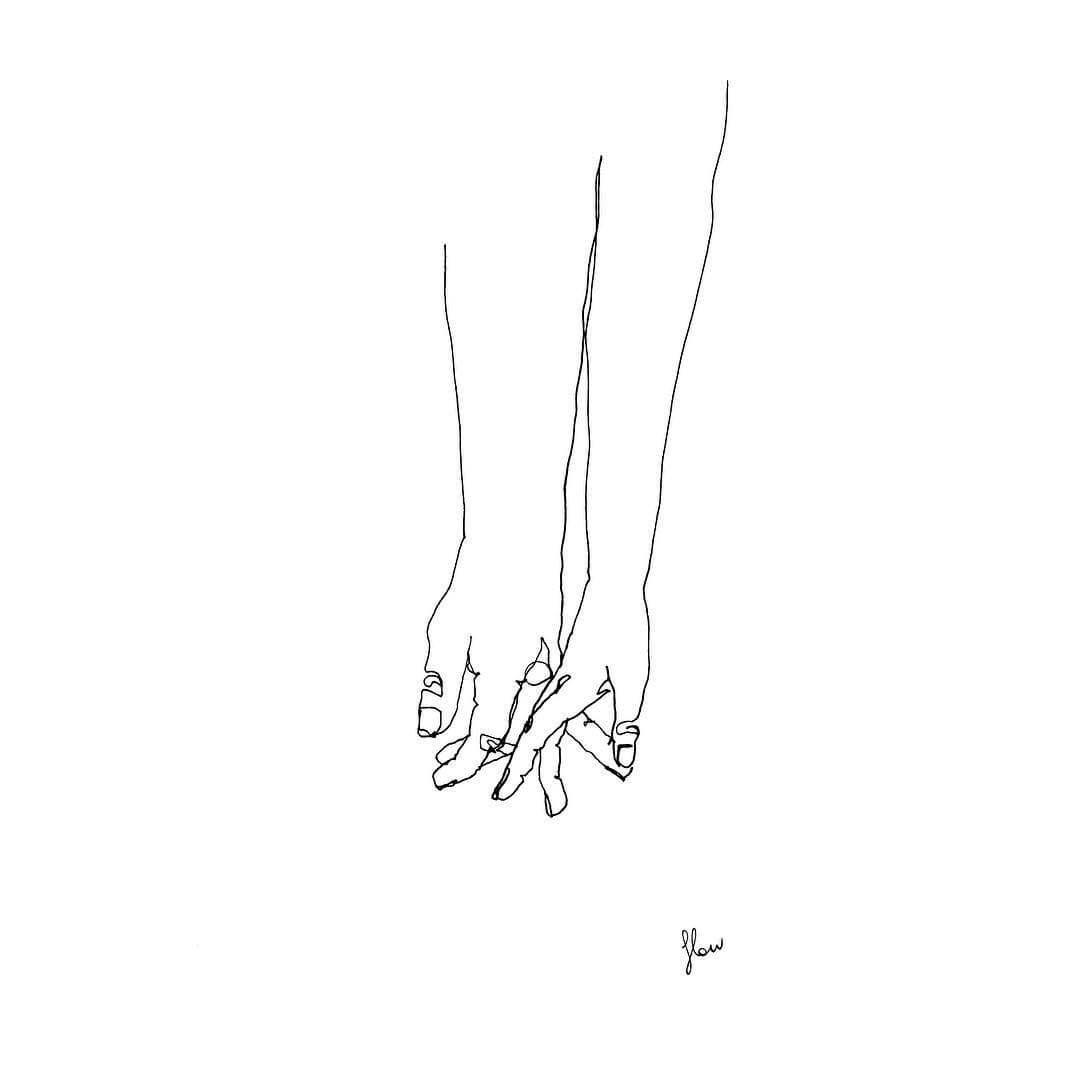 minimalist line art couple