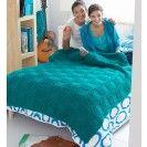 Free Garter Blocks Blanket Pattern