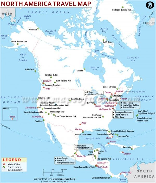 North America Travel Information - Places to visit, Map ...