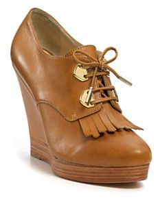 "So cute for Fall. KORS Michael Kors ""Cassidy"" Wedge Booties."