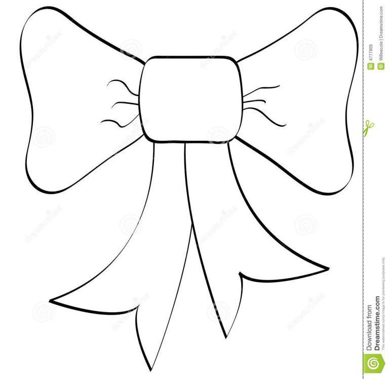 Christmas Ribbon Coloring Pages Bows Coloring Page Pages Ribbon