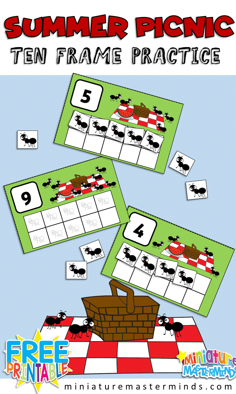 Ants At The Picnic Preschool 10 Frame Counting Activity Counting Activities Preschool Counting Activities Insects Preschool [ 1280 x 768 Pixel ]