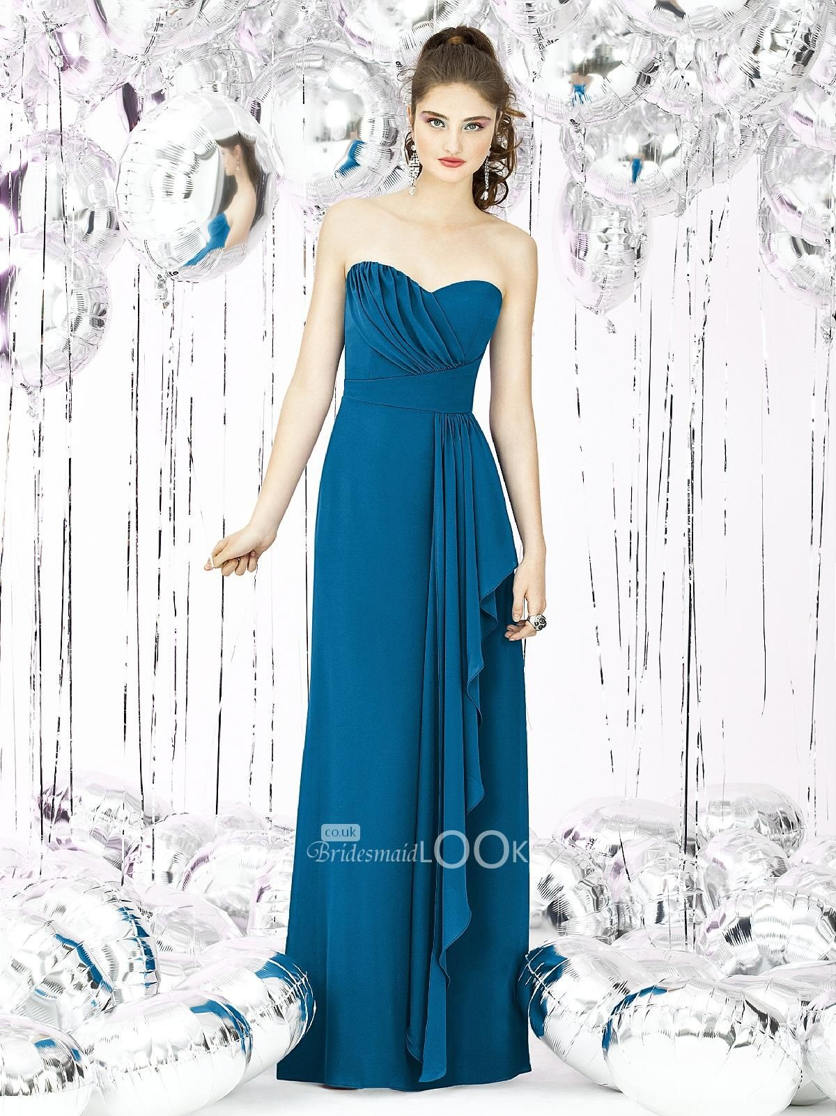 Blue+Bridesmaid+Dresses | ... Length Strapless Ocean Blue Bridesmaid ...