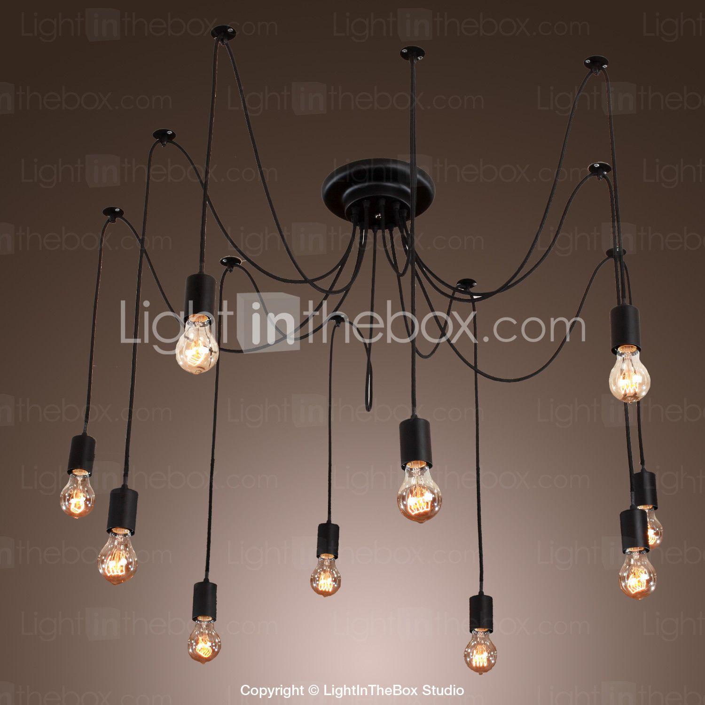 Chandelier vintage design bulbs included living lights vintage