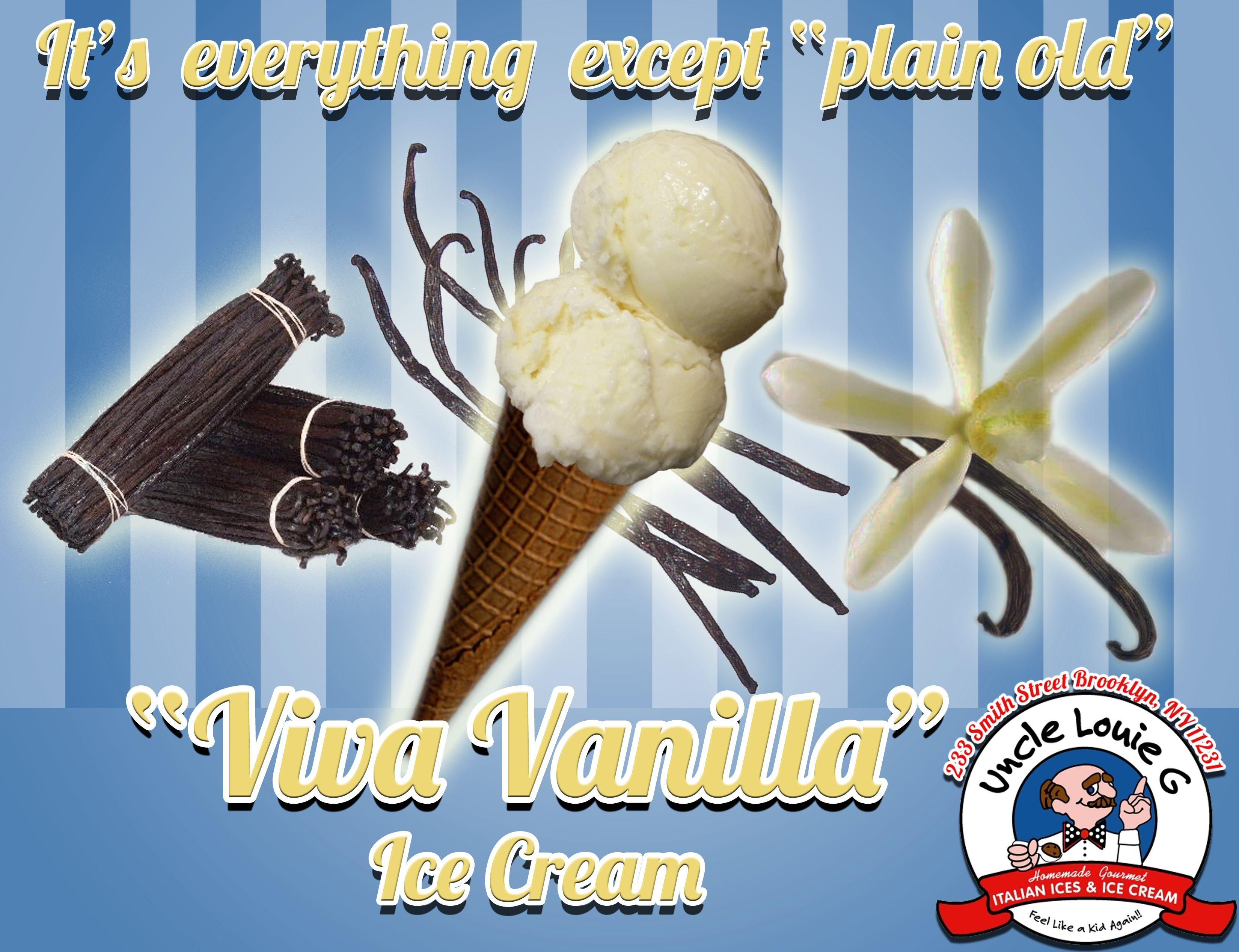 "Live Large: ""Viva Vanilla"" Ice Cream is creamy and delicious!  Come try some today #unclelouieg #icecream #vanilla #yum"