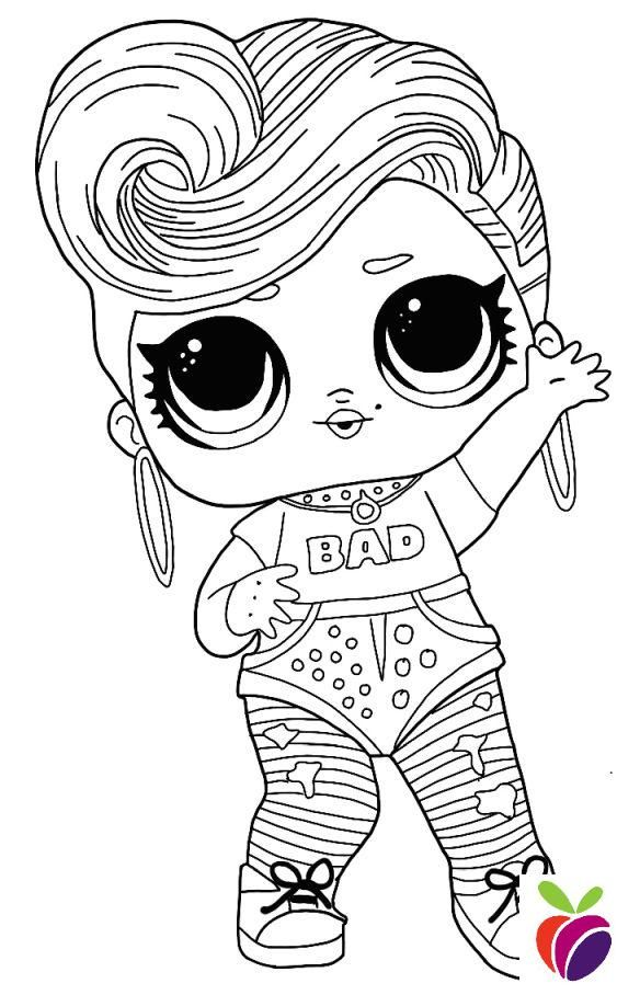 lol surprise hairgoals series coloring page - bhaddie in