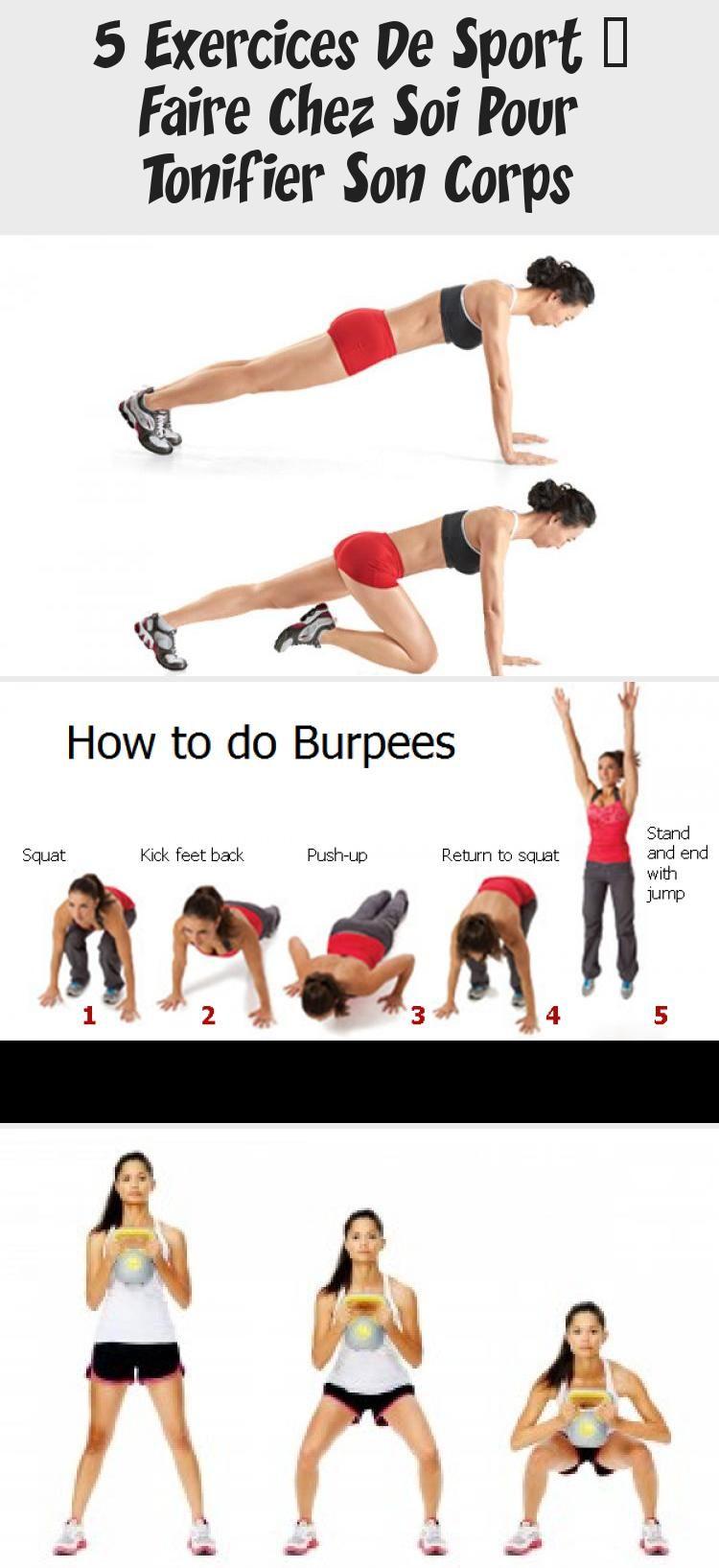 5 Exercices De Sport à Faire Chez Soi Pour Tonifier Son Corps | Squats, Squat stands, Push up