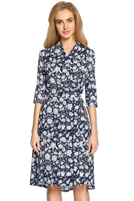 Kopertowa Sukienka W Kwiaty Wiazana W Pasie Kobieta Odziez Sukienki Sukienki Shop Wrap Dress Dresses Casual Dress