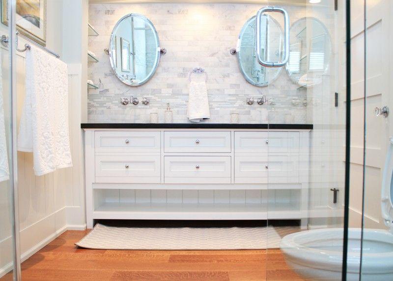 I Like The Open Bottom Of This Vanity Wooden Bathroom Shelves