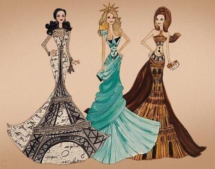 3 fashion drawings inspired by countries http ...