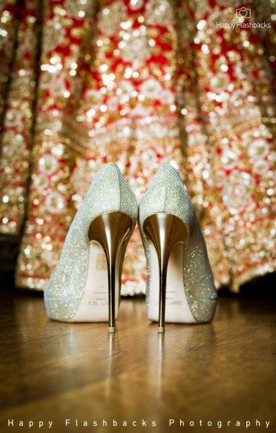 5dca829fd1aae stunning bridal shoes | bridal golden pumps | Indian Wedding Photography | Bridal  heels | Photo Credits: Happy Flashbacks Photography | Every Indian bride's  ...