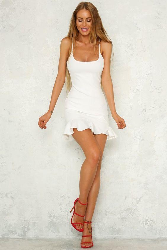 Velvet Roses [Dress] White