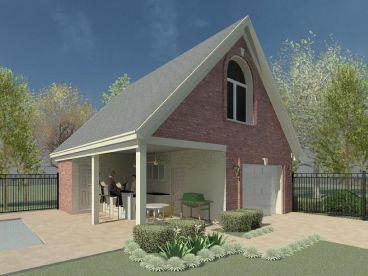 1 Car Garage With Pool Bath 006g 0152 Pool House Plans Garage Guest House Backyard Buildings