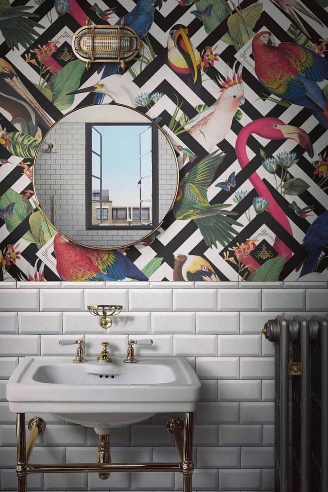 21 Simple Bathroom Wall Decor Ideas Bathroom Wall Decor Remodel Wallpaper Designs For Walls Bathroom Wallpaper Simple Bathroom