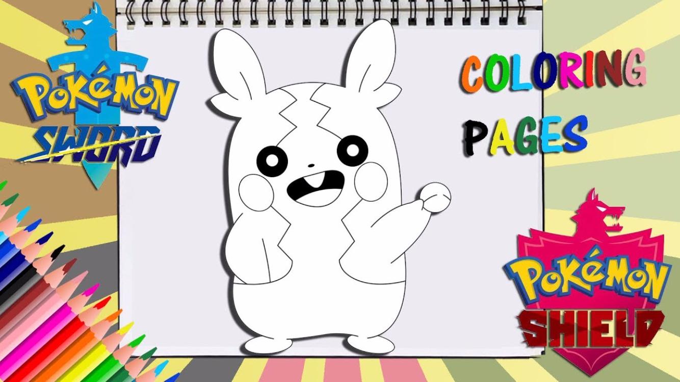 Pokemon Sword And Shield Morpeko Coloring Page Coloring Pages Pokemon Coloring Books