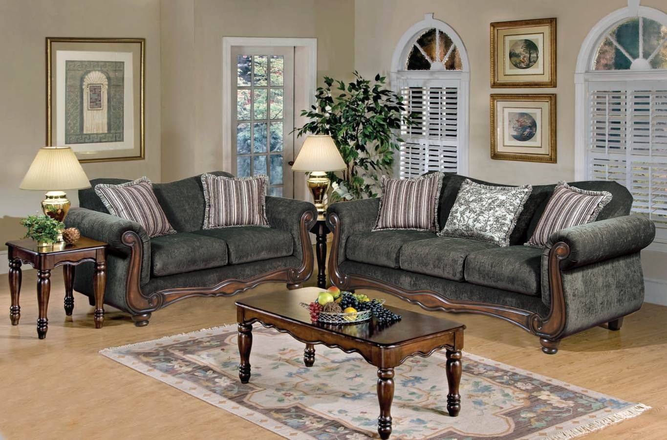 Best Olysseus Upholstery Gray Tanglewood Brown Sofa By Acme 640 x 480