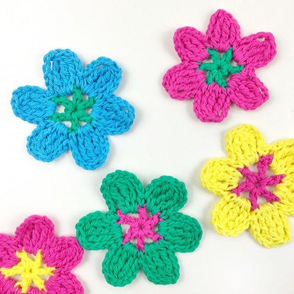 crochet flower video tutorial   flores flamenca y más a crochet ...