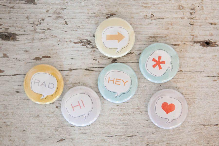Image of *NEW* Speech Bubble Badges    #StudioCalicoPinToWin