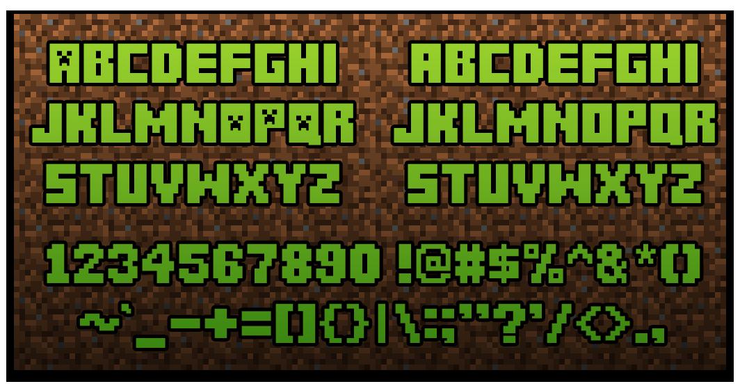Minecraft font [Updated] Other Fan Art Fan Art Show
