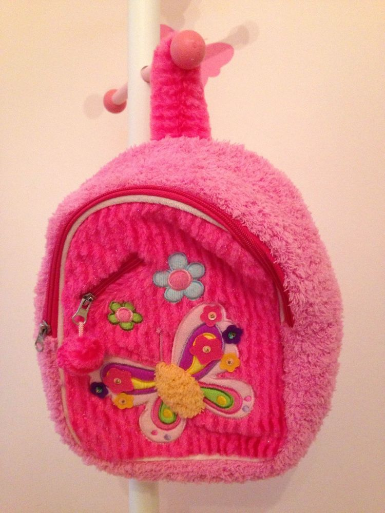 4d13bfe87d20 Pecoware Hot Pink Fancy Butterfly kids Fuzzy Backpack #fashion ...