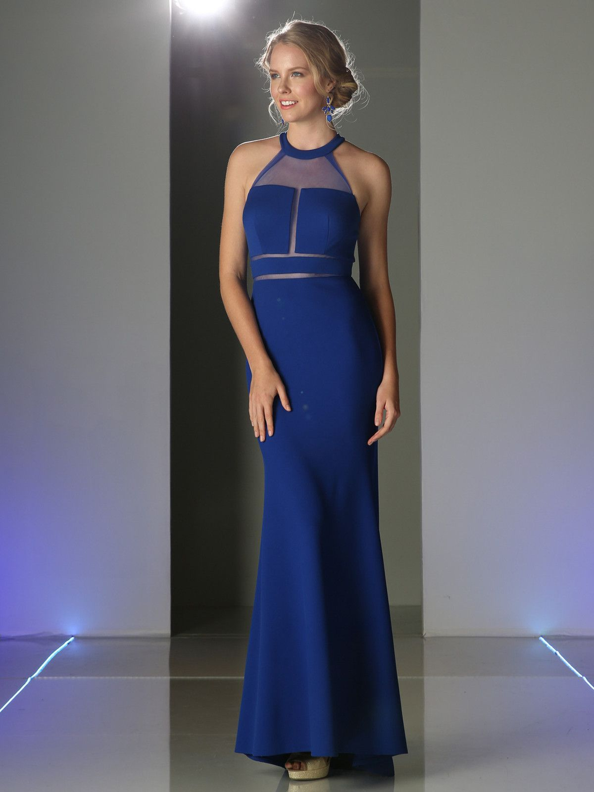 Illusion Evening Dress with Front Panel by Cinderella Divine CF088