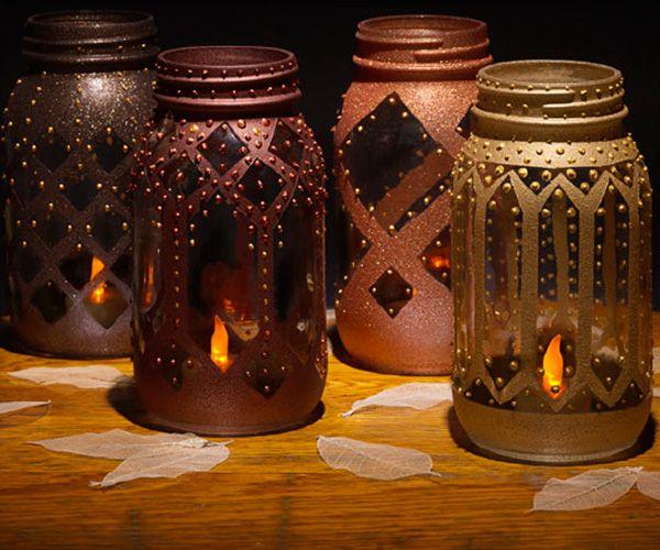 Mason Jar Moroccan Lanterns Mason Jar Art Mason Jars Mason Jar Lanterns