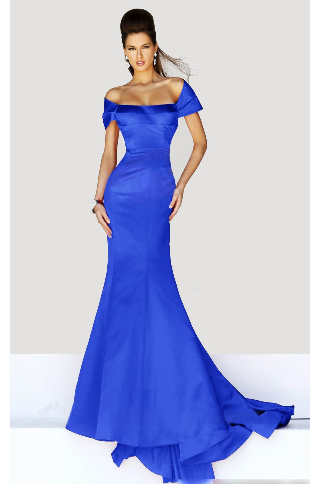 Superb hollywood glamour gown ndress rtw short evening