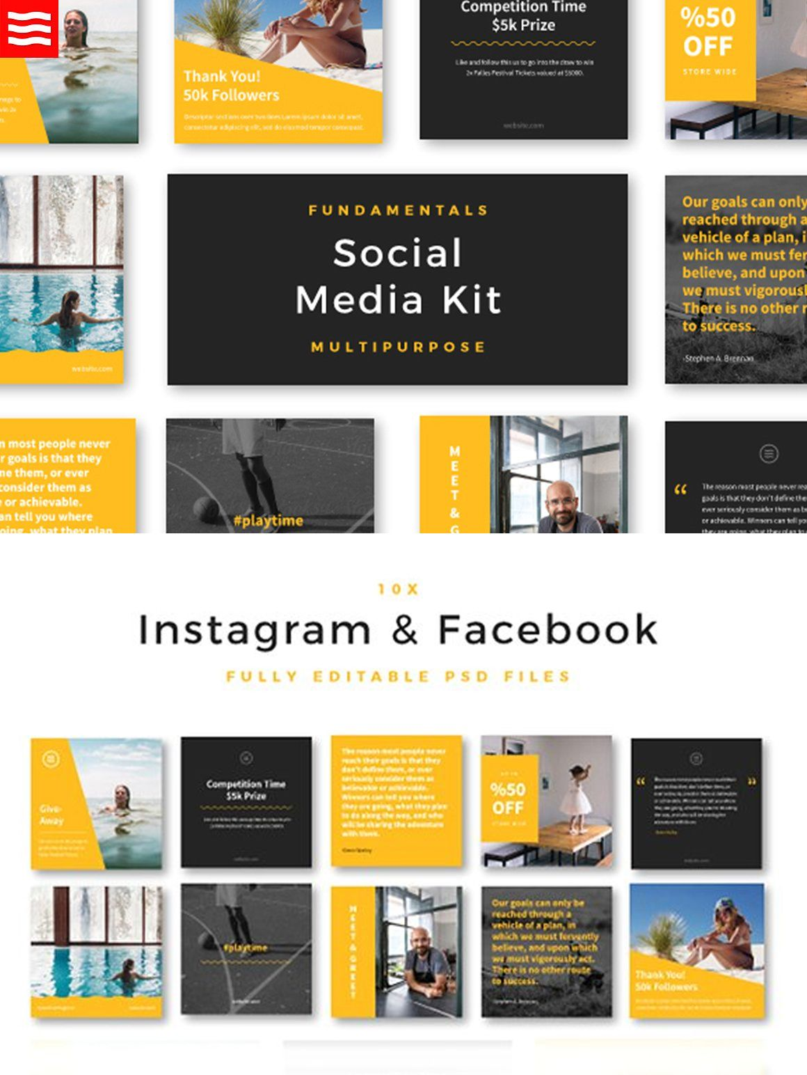 fundamentals social media kit templates psd social media templates