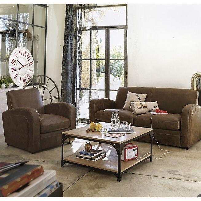 Cuba Salon Canape Convertible 3 Places En Croute De Cuir Canape Design Mobilier De Salon Meuble Deco