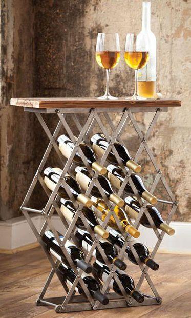 Captivating Crossbar Wine Rack Table Design Inspirations