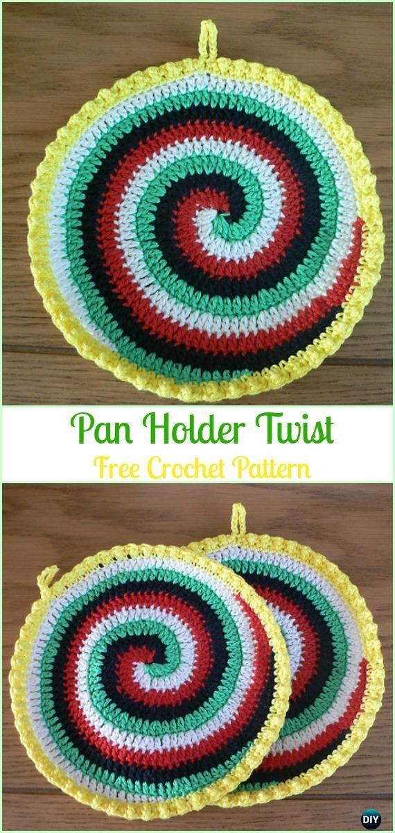 Crochet Pan Holder Twist Free Pattern - Crochet Pot Holder Hotpad ...