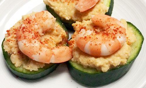 shrimp cucumber bites  recipe  zoodle recipes healthy