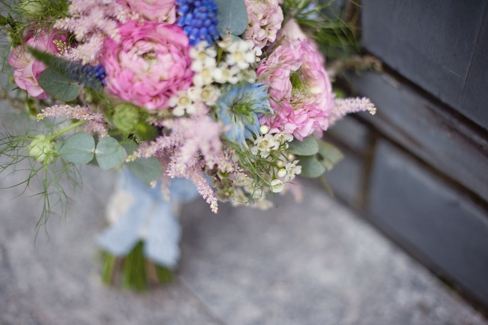 Prettiest pink and blues pastel summer inspired wedding bouquet courtesy of www.blodwen.co.uk x