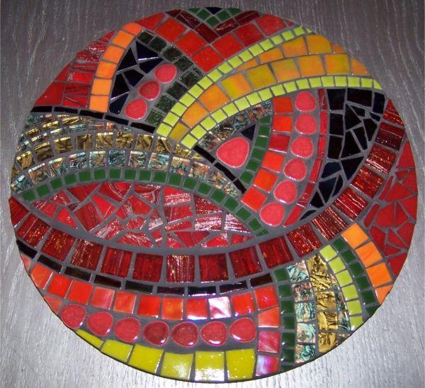 Tr s jolie mosa que mosaique art decoration l 39 univers de la mosa que pinterest - Modele mosaique pour plateau ...