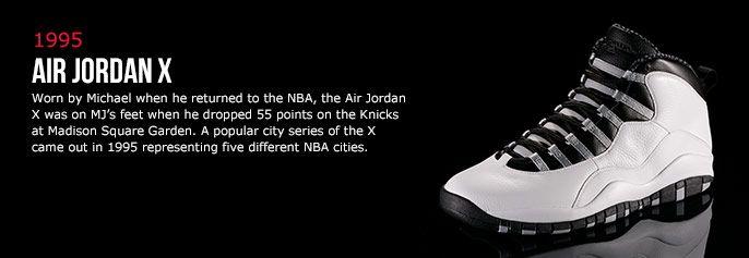 history of air jordan 10