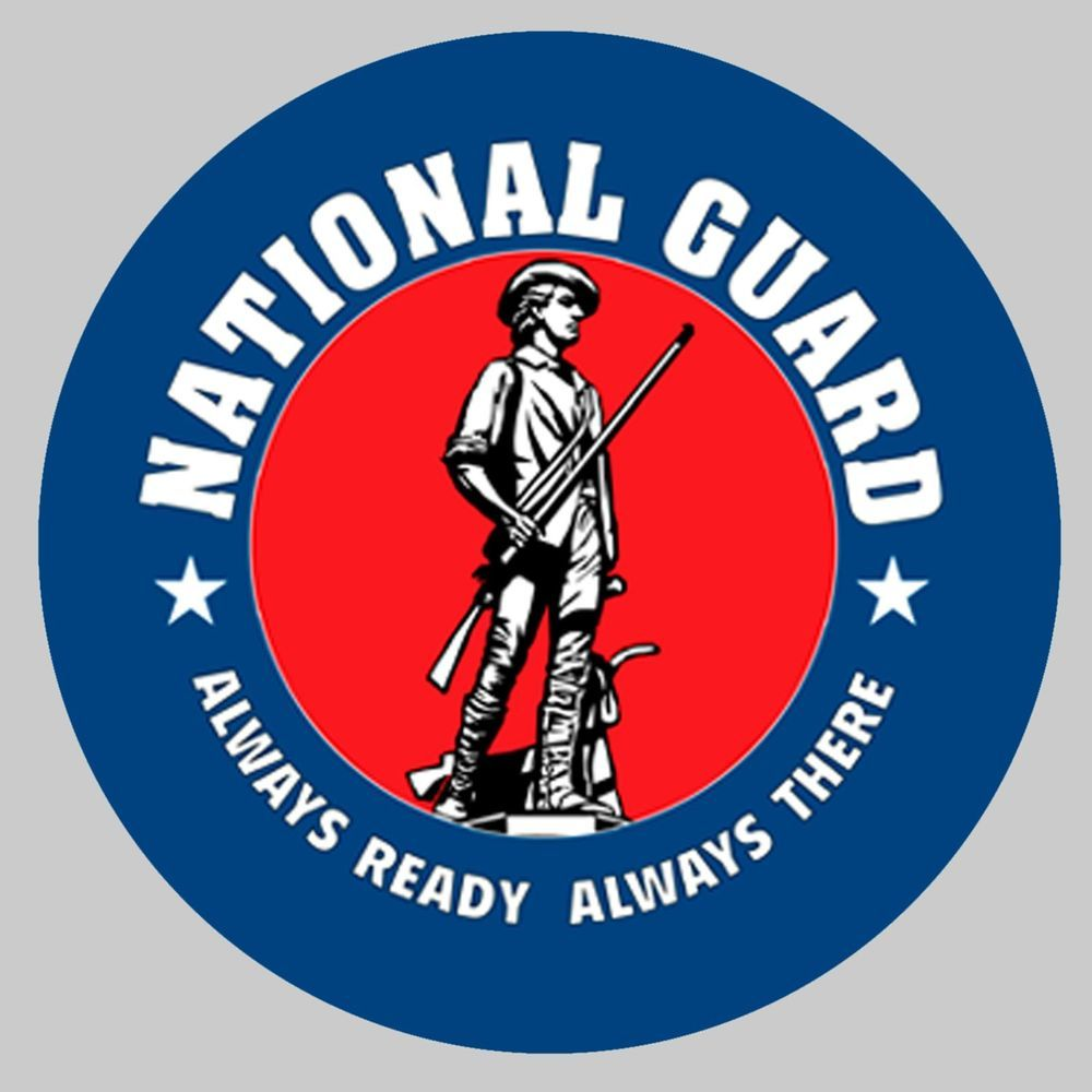 """US National Guard 8"""" x 8"""" Printed Fabric Quilting Block"""