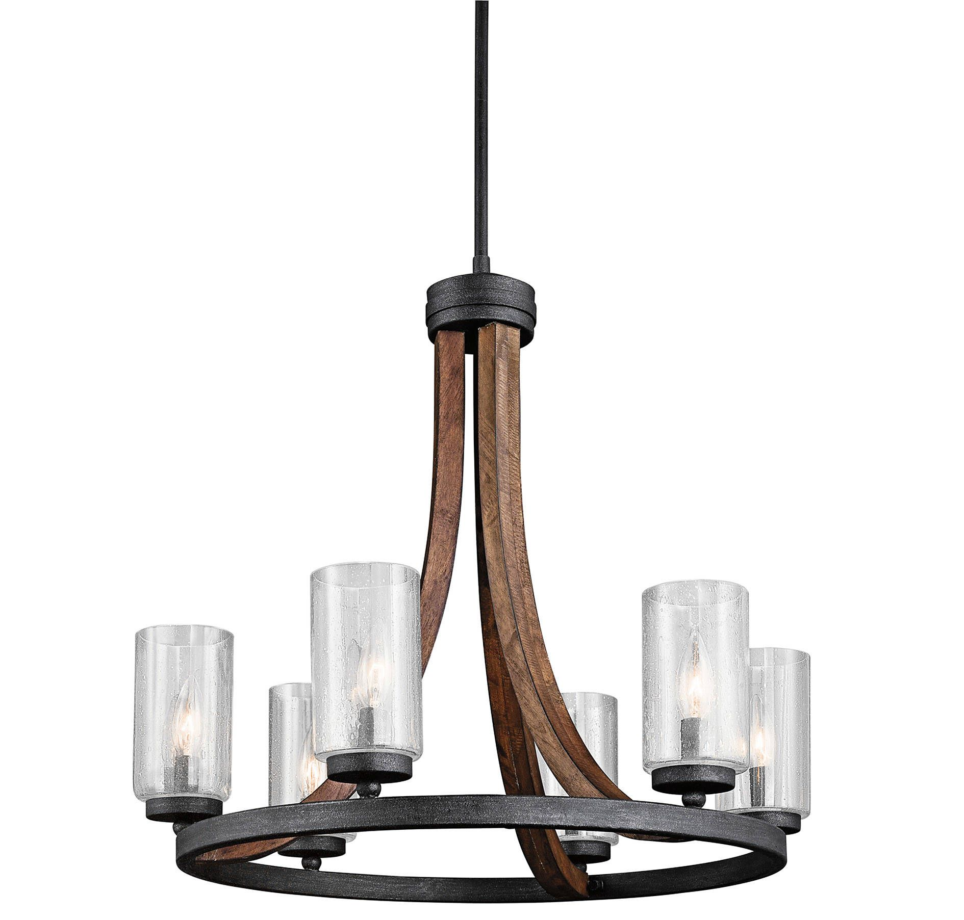 Kichler AUB Grand Bank 6 Light Chandelier 1 Tier Medium in