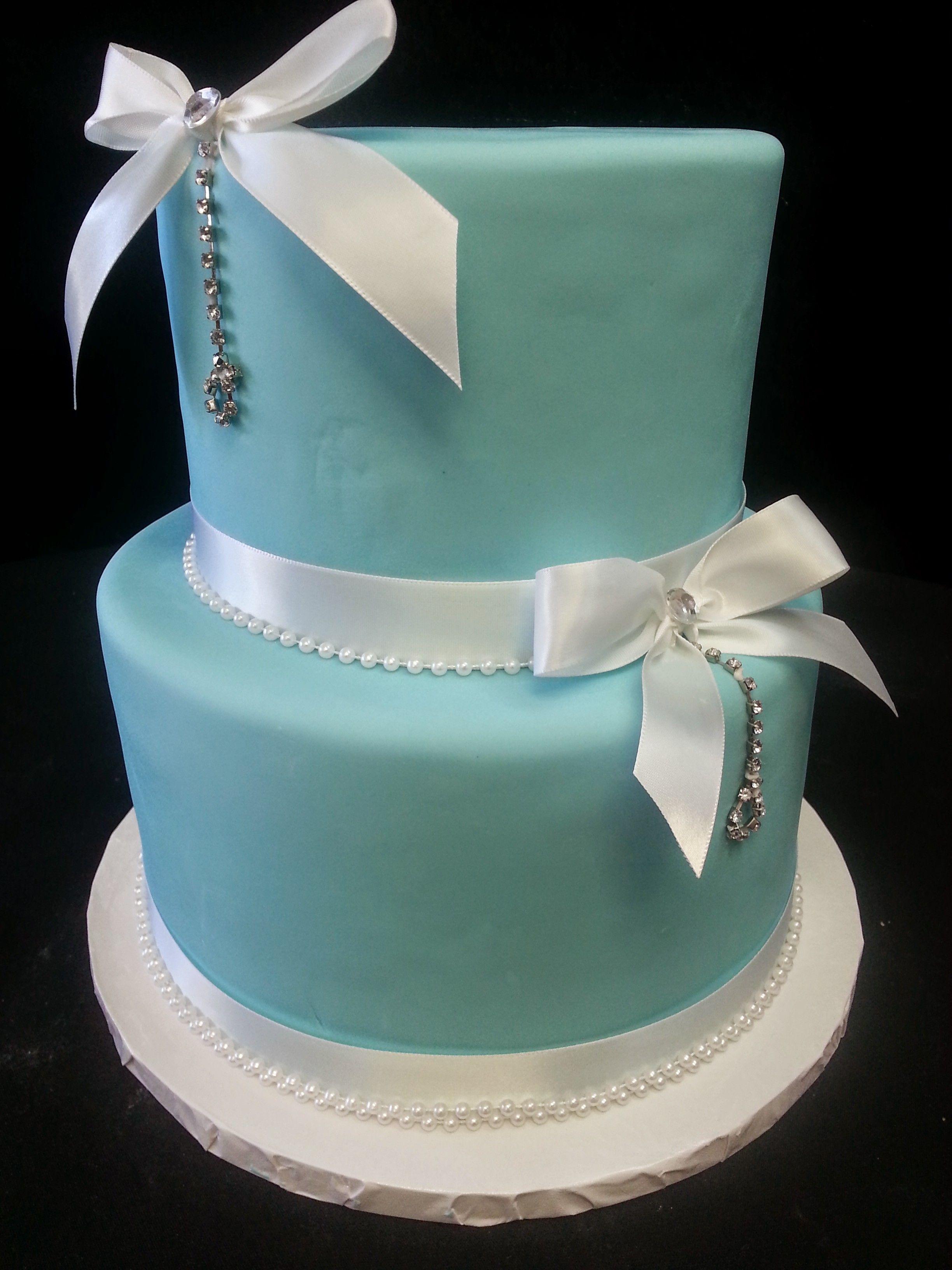 Cookie Jar Bakeshop I Custom Cakes I Birthday Cake I Tiffany Themed Birthday Cake I Tiffany Blue Cake