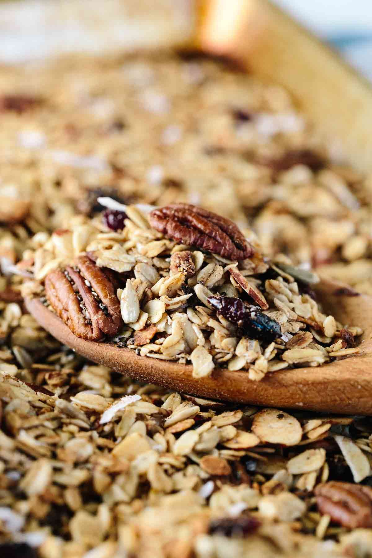 Slow Cooker Granola with Fruit and Nuts