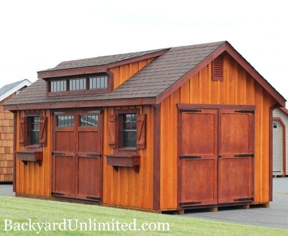 10 39 x16 39 garden shed with board and batten siding flower for Garden shed ventilation