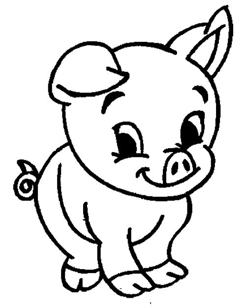Cute Animal Pig Coloring Pages
