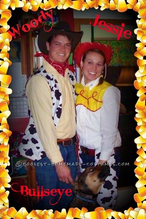 Woody and Jessie with Bullseye  sc 1 st  Pinterest & Coolest Woody and Jessie Couple Costume WITH Bullseye | Jessie ...