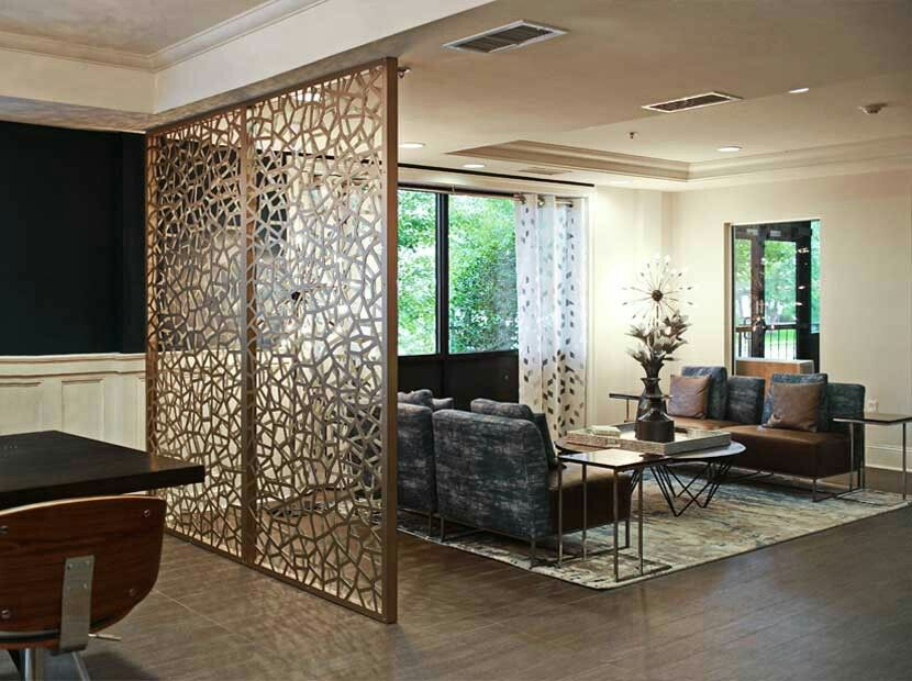 Decorative Room Divider Bronze Gold Aluminum Composite Partition